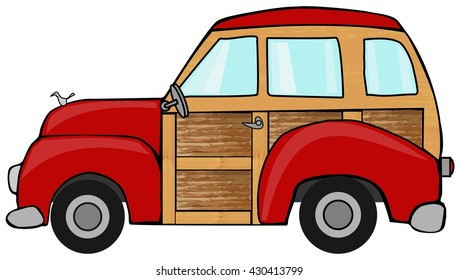 station wagon car images stock photos vectors shutterstock rh shutterstock com Station Wagon Roof Rack Clip Art Clark Griswold Station Wagon