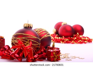 Red xmas balls