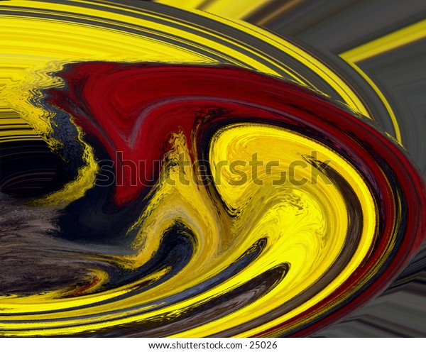 Red, yellow abstract design for a background