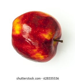 Red yellow apple isolated
