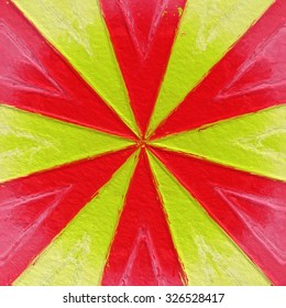 Red and yellow circus tent stripes