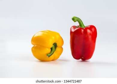 Red and yellow colored pepper