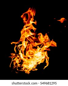 red yellow flames on black background