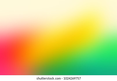 Red Yellow Green Ombre Empty Background Lollipop Abstract Texture Gradient Blurred Pattern