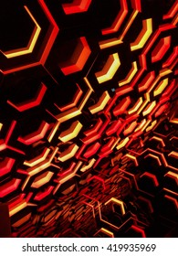 Red and Yellow Hexagons