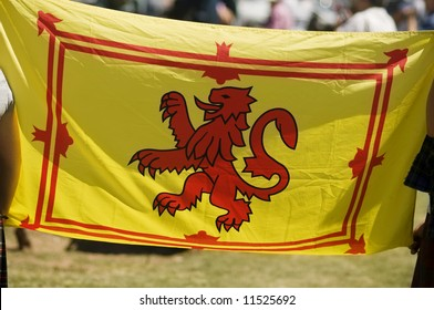 Red and Yellow Lion Rampant Scottish Flag