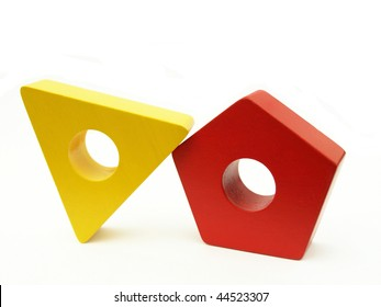 Red and yellow shapes