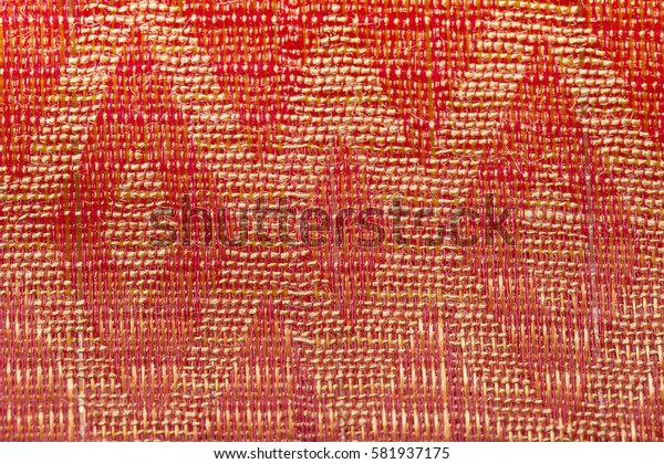 Red and yellow woven fabric texture