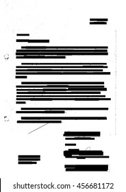 Redacted letter with photocopy marks