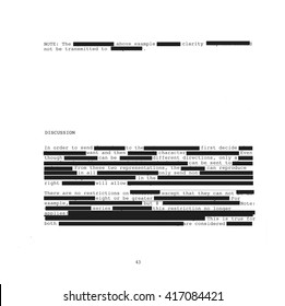 Redacted text on white background