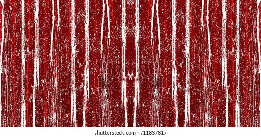 Red-Black-White Aged Grunge Wall Background. Old Weathered Peeled Painted Plaster Backdrop. Reddish Abstract Antique Cracked Stain Texture Background. Damaged Retro Stucco Scratched Pattern