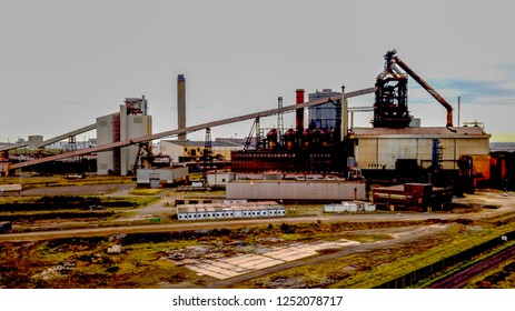 Redcar Blast furnace which is now abandoned. Part of Teesside's heavy industry. Middlesbrough history of making steel.