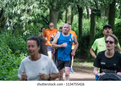 Redcar, Cleveland / England - June 23rd 2018 : Redcar Parkrun. This event runs every saturday morning in parks across England.