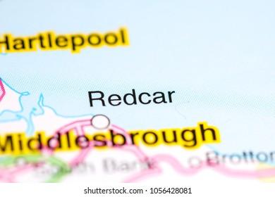 Redcar. United Kingdom on a map