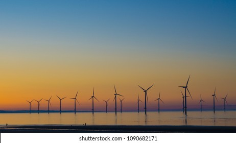 Redcar wind farm. North east coast of the UK.