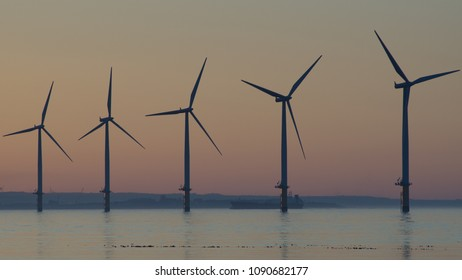Redcar wind farm. North east coast of the UK.