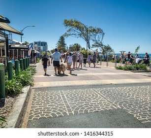 Redcliffe Queensland Australia - 31 March 2019. Every Sunday the road closed for peddestrian traffic and Redcliffe Jetty Market.