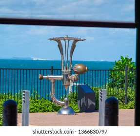 Redcliffe, Queensland, Australia - April 1st 2019: One of the Sculptures along the Redcliffe Esplanade.