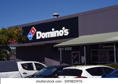 Redcliffe, Queensland, Australia - May 14 2018: Domino's Pizza store