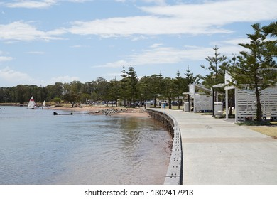 Redcliffe, Queensland / Australia - November 25 2018: Crockatt Park in Woody Point, Redcliffe