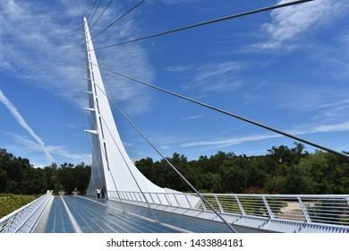 Pedestrian Foot Bridge Images, Stock Photos & Vectors