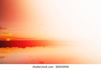 Reddish blind glow sunset background