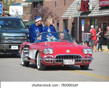 "Redfield, SD / USA - September 25 2015: Redfield High School celebrates its homecoming with a parade. The northeast South Dakota town is dubbed the ""Pheasant Capital"" of the USA."
