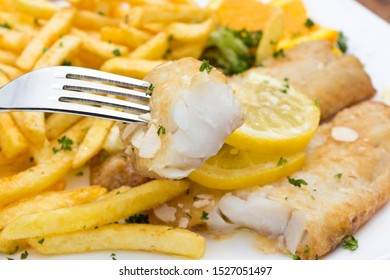 Redfish fillet with french fries