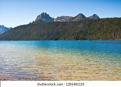 Redfish Lake, Stanley, Sawtooth Mountains, Sawtooth National Forest, Idaho, USA