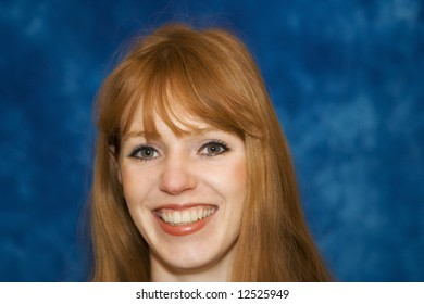 red-haired woman - smiling
