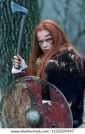Sexy redhead women warriors