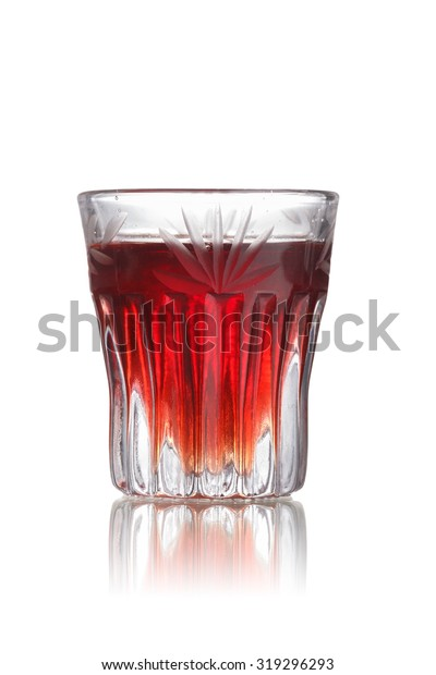 Redheaded Slut Alcoholic Cocktail Faceted Shot Stock Photo Edit