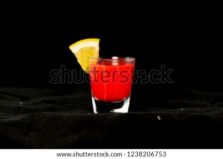 Redheaded Slut Cocktail With Jagermeister Cranberry Juice And Peach Schnapps