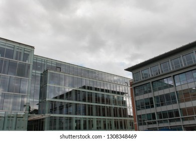 REDING, UK - MAY 2017: Exterior view of office buildings in Reading, Berkshire.