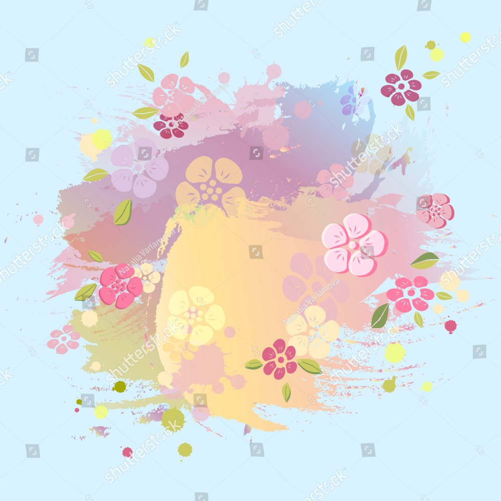 Pastel colors painting imitation background. Cute template for ...