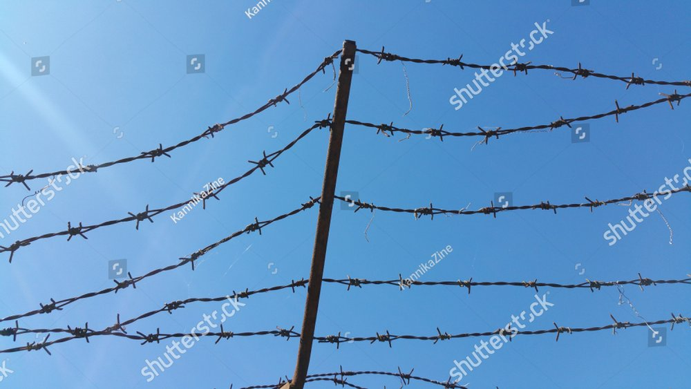 Barb Wire And The Sky. | EZ Canvas