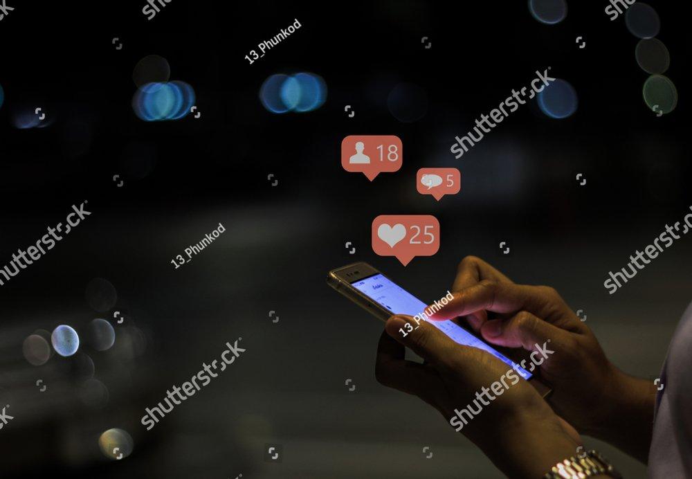 Girl using mobile smart phone