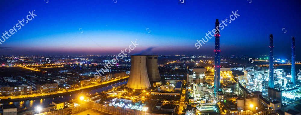 Aerial view at oil and gas industrial,Oil refinery plant form industry,