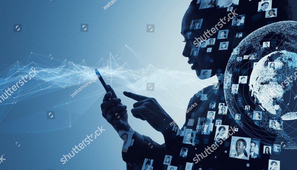 Social media concept. Communication network.