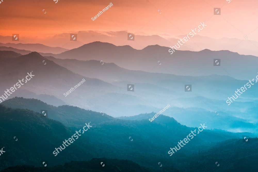 Mountains under mist in the morning Amazing nature scenery  form Kerala God's own Country Tourism and travel concept image, Fresh and relax type nature image
