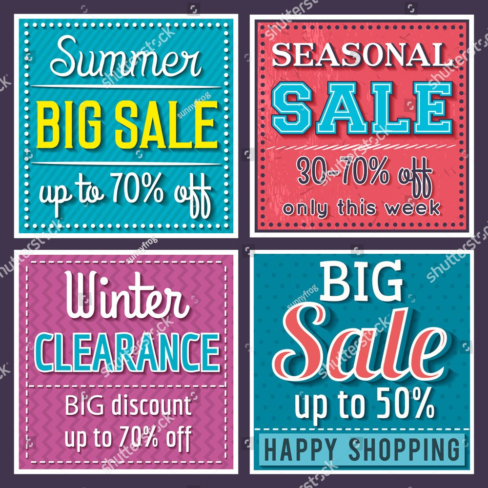 Vintage End of Season Sale poster, banner or flyer design with flat discount  offer. | EZ Canvas