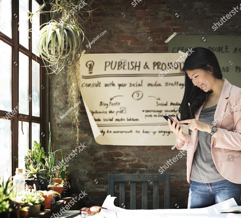 Publish Promotion Commercial Social Media Plan Concept