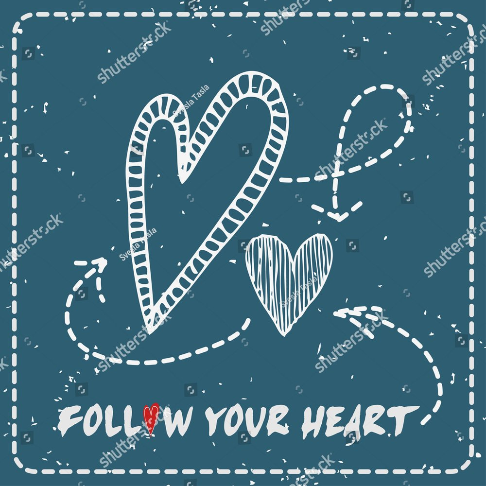 Valentines Day Greeting Card Follow Your Heart Heart Ez Canvas