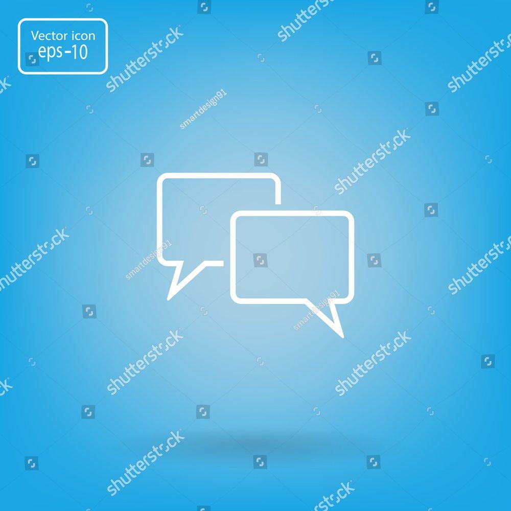 Speech bubbles icon. vector illustration | EZ Canvas