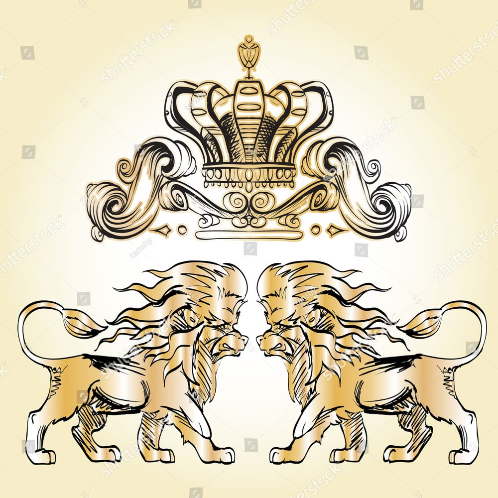 heraldry background for the logo, emblem, lion and shield cloth ...