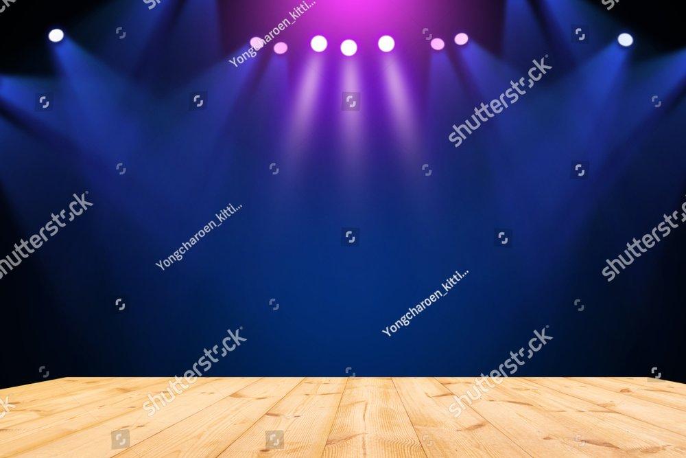 Stage Theater On Wooden Floor Background Ez Canvas