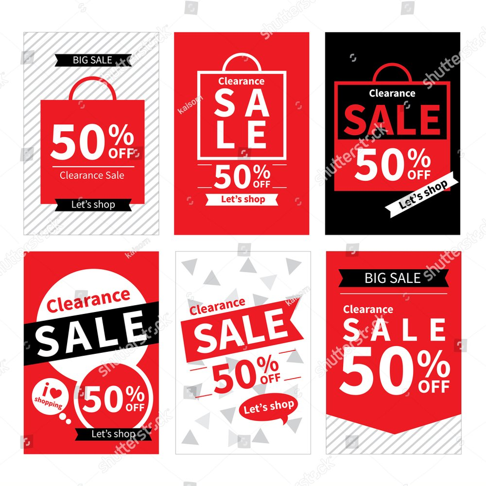 Social media sale banners and ads web template set. Vector illustrations  for website and mobile banners, posters, email and newsletter designs, ads,  ...