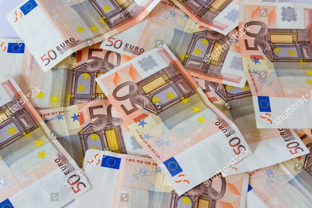 European Currency Money Euro Banknotes Bill Close Up Ez Canvas