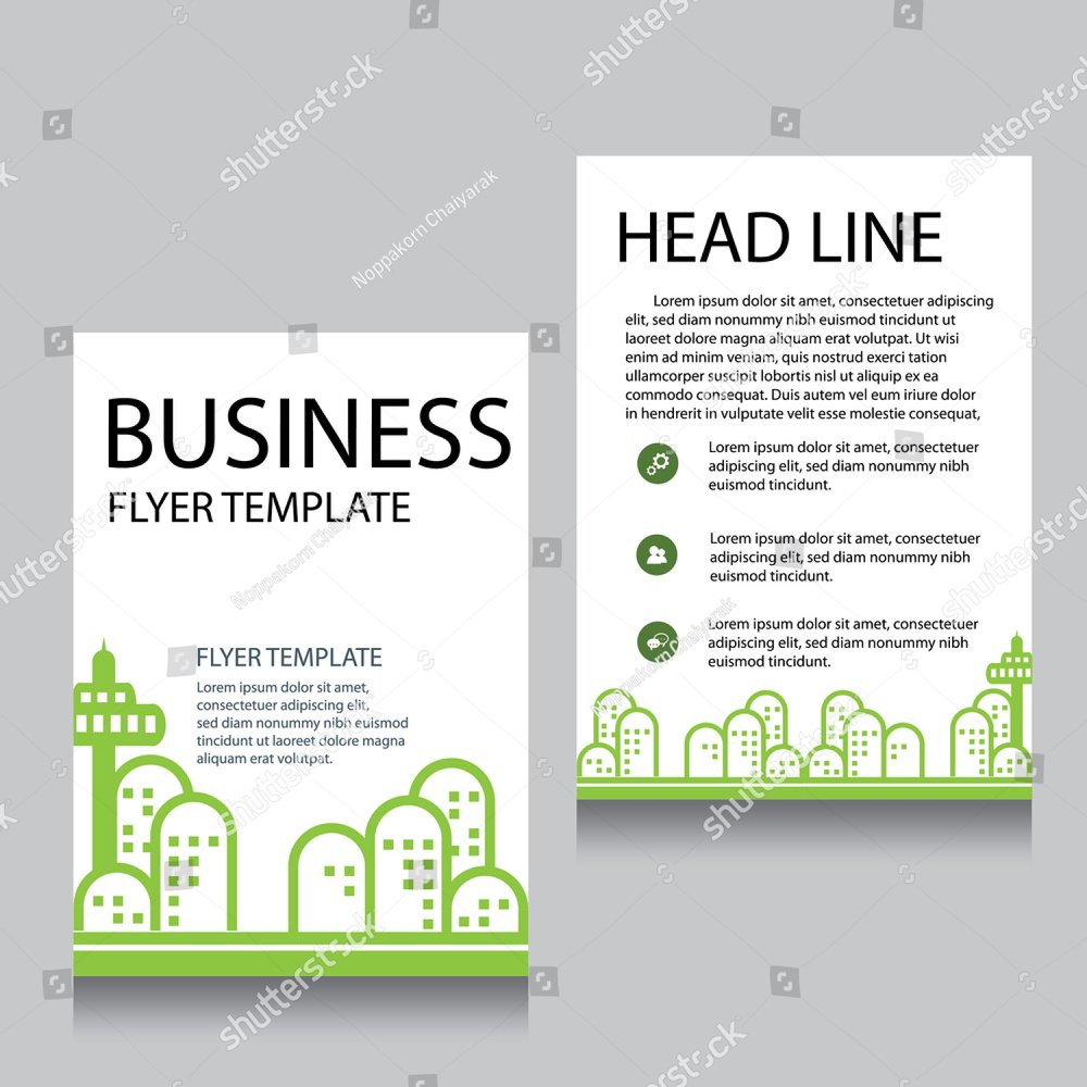 Template for advertising brochure with green park | EZ Canvas