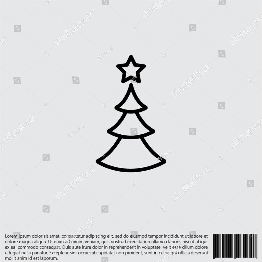 Evergreen Tree Diagrams Christmas Diagram Web Line Icon Ez Canvas 1000x1000